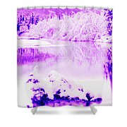 Lake And Ice Shower Curtain