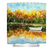 Lake Impression Shower Curtain