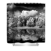 Lake In Black And White One Shower Curtain