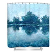 Lake In The Morning Shower Curtain