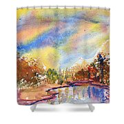 Lake In The Woods Shower Curtain