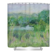 Lake Isaac Impressions Shower Curtain
