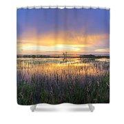 Lake Jackson Sebring Florida Panorama Shower Curtain