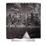 Lake Kayaking Bw Shower Curtain