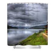 Lake Koocanusa At Libby Dam Shower Curtain
