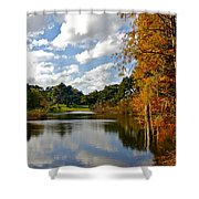 Lake Lancaster Shower Curtain by Denise Mazzocco