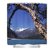 Lake Llanganuco Peru Shower Curtain