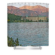Lake Louise Chateau At Sunset In Banff Np-alberta Shower Curtain