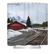 Lake Louise Depot Shower Curtain
