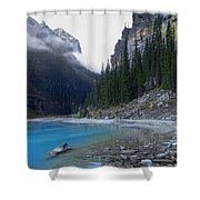 Lake Louise North Shore - Canada Rockies Shower Curtain