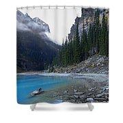 Lake Louise North Shore - Canada Rockies Shower Curtain by Daniel Hagerman