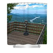 Lake Lure Overlook Shower Curtain