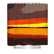 Lake Macatawa Sunset Shower Curtain