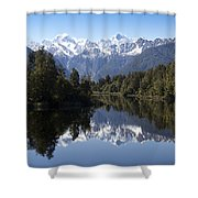Lake Matheson New Zealand Shower Curtain