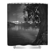 Lake Mcdonald In The Spring Shower Curtain