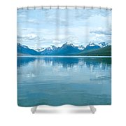 Lake Mcdonald Reflection In Glacier  National Park-montana Shower Curtain