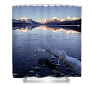 Lake Mcdonald Winter Shower Curtain