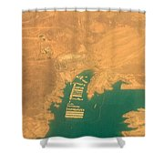 Lake Mead From The Air Shower Curtain