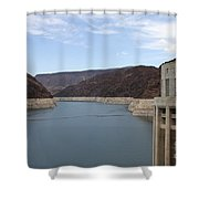 Lake Mead Seen From The Hoover Dam Shower Curtain