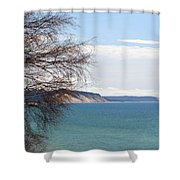 Lake Michigan Bluffs Shower Curtain