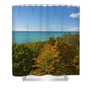 Lake Michigan Cut River 1 Shower Curtain