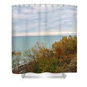 Lake Michigan Fall Shower Curtain