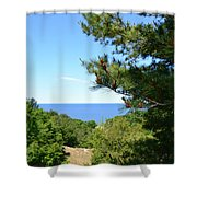 Lake Michigan From The Top Of The Dune Shower Curtain