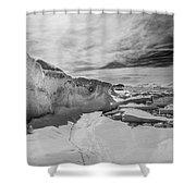 Lake Michigan Ice Iv Shower Curtain