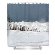 Lake Michigan Ice Shower Curtain
