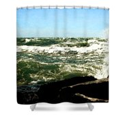 Lake Michigan In An Angry Mood Shower Curtain