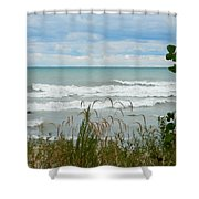 Lake Michigan In Racine Shower Curtain