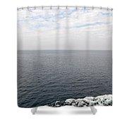 Lake Michigan Midpoint Shower Curtain