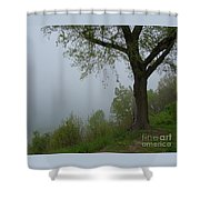 Lake Michigan Obscured Shower Curtain