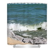 Lake Michigan Shore Shower Curtain