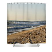 Lake Michigan Shoreline 02 Shower Curtain