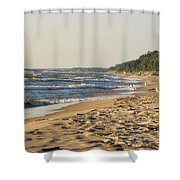 Lake Michigan Shoreline 03 Shower Curtain