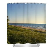 Lake Michigan Shoreline 05 Shower Curtain