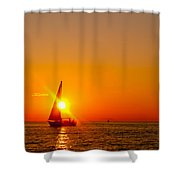 Lake Michigan Sunset Shower Curtain