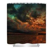 Lake Murray Fire Sky Shower Curtain