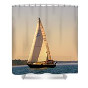 Lake Murray Sc Sailing Shower Curtain