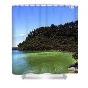 Lake Ngakoro Rotorua New Zealand Shower Curtain