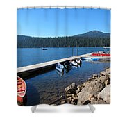Lake Of The Woods Boat Harbor Shower Curtain