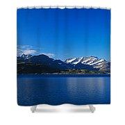 Lake On Mountainside, Sorfolda, Bodo Shower Curtain