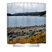Lake On The Grand Mesa Colorado Shower Curtain