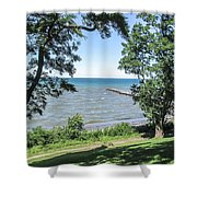 Lake Ontario At Webster Park Shower Curtain