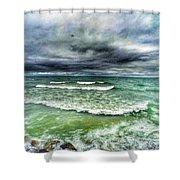 Lake Ontario Waves Shower Curtain