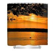 Lake Panarama Sunset Shower Curtain