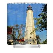 Lake Park Light House 2 Shower Curtain