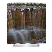 Lake Park Waterfall Shower Curtain