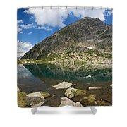 Lake Piccolo - Val Di Sole Shower Curtain